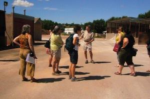 Tim giving us a tour of Plainsman Clay