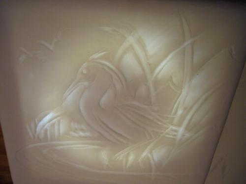Heron Lithophane by Sheila Jahraus 2011