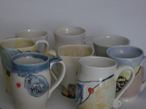 Color field of mugs
